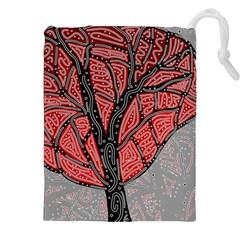 Decorative Tree 1 Drawstring Pouches (xxl) by Valentinaart