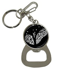 Black And White Tree Bottle Opener Key Chains by Valentinaart