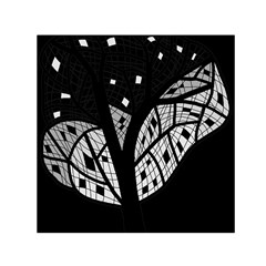 Black and white tree Small Satin Scarf (Square) by Valentinaart
