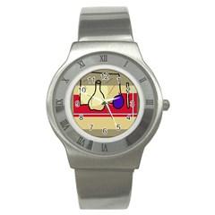 Decorative art Stainless Steel Watch by Valentinaart