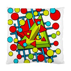 Crazy Geometric Art Standard Cushion Case (two Sides) by Valentinaart