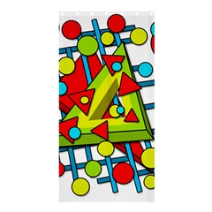 Crazy Geometric Art Shower Curtain 36  X 72  (stall)  by Valentinaart