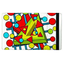 Crazy Geometric Art Apple Ipad 3/4 Flip Case by Valentinaart