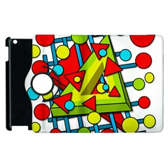 Crazy Geometric Art Apple Ipad 3/4 Flip 360 Case by Valentinaart