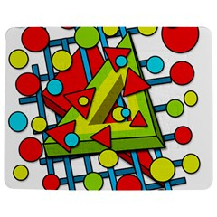 Crazy geometric art Jigsaw Puzzle Photo Stand (Rectangular) by Valentinaart
