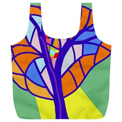 Decorative Tree 4 Full Print Recycle Bags (l)  by Valentinaart