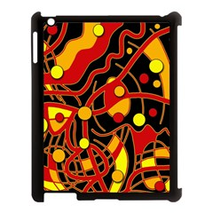 Orange Floating Apple Ipad 3/4 Case (black) by Valentinaart