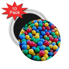 Funny Colorful Red Yellow Green Blue Kids Play Balls 2 25  Magnets (10 Pack)  by yoursparklingshop
