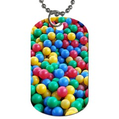 Funny Colorful Red Yellow Green Blue Kids Play Balls Dog Tag (two Sides) by yoursparklingshop