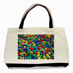 Funny Colorful Red Yellow Green Blue Kids Play Balls Basic Tote Bag (Two Sides) by yoursparklingshop