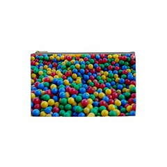 Funny Colorful Red Yellow Green Blue Kids Play Balls Cosmetic Bag (small)  by yoursparklingshop