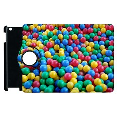 Funny Colorful Red Yellow Green Blue Kids Play Balls Apple Ipad 3/4 Flip 360 Case by yoursparklingshop