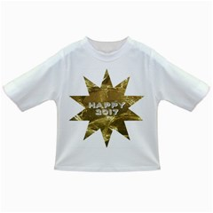 Happy New Year 2017 Gold White Star Infant/toddler T Shirts by yoursparklingshop