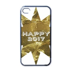 Happy New Year 2017 Gold White Star Apple Iphone 4 Case (black) by yoursparklingshop