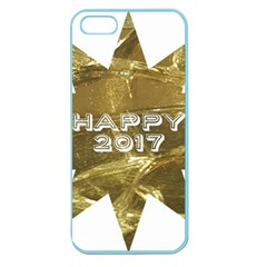 Happy New Year 2017 Gold White Star Apple Seamless Iphone 5 Case (color) by yoursparklingshop