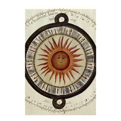 Ancient Aztec Sun Calendar 1790 Vintage Drawing Shower Curtain 48  X 72  (small)  by yoursparklingshop