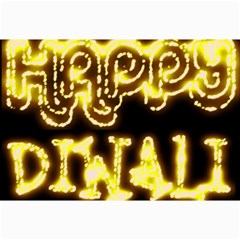 Happy Diwali Yellow Black Typography Collage Prints by yoursparklingshop