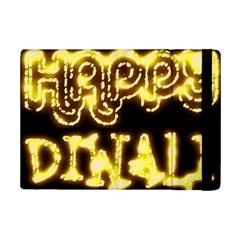 Happy Diwali Yellow Black Typography Ipad Mini 2 Flip Cases by yoursparklingshop