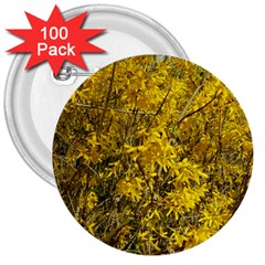 Nature, Yellow Orange Tree Photography 3  Buttons (100 Pack)  by yoursparklingshop