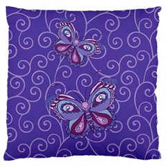 Butterfly Large Flano Cushion Case (two Sides) by olgart