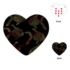 Decorative Fish Pattern Playing Cards (heart)  by Valentinaart