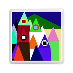 Colorful Houses  Memory Card Reader (square)  by Valentinaart