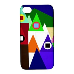 Colorful Houses  Apple Iphone 4/4s Hardshell Case With Stand by Valentinaart