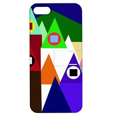 Colorful Houses  Apple Iphone 5 Hardshell Case With Stand by Valentinaart