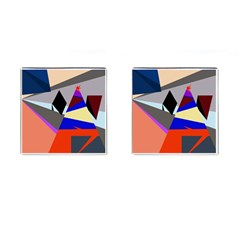 Geometrical Abstract Design Cufflinks (square) by Valentinaart