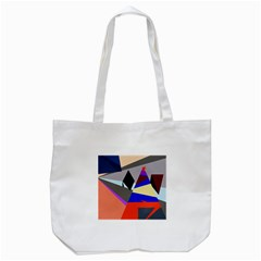 Geometrical Abstract Design Tote Bag (white) by Valentinaart