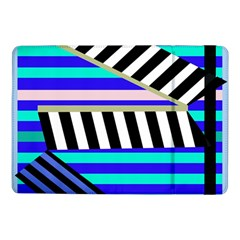 Blue Lines Decor Samsung Galaxy Tab Pro 10 1  Flip Case by Valentinaart