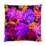 Purple Painted Floral and Succulents Cushion Case (Two Sided)