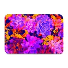 Purple Painted Floral And Succulents Table Mat by LisaGuenDesign