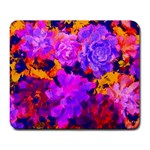 Purple Painted Floral and Succulents Large Mouse Pad (Rectangle)