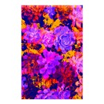 Purple Painted Floral and Succulents Shower Curtain 48  x 72  (Small)