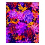 Purple Painted Floral and Succulents Shower Curtain 60  x 72  (Medium)