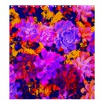 Purple Painted Floral and Succulents Shower Curtain 66  x 72  (Large)