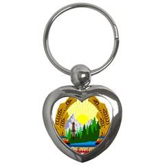 National Emblem Of Romania, 1965 1989  Key Chains (heart)  by abbeyz71