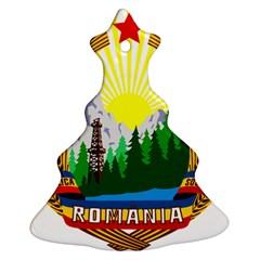 National Emblem Of Romania, 1965 1989  Christmas Tree Ornament (2 Sides) by abbeyz71