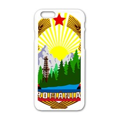 National Emblem Of Romania, 1965 1989  Apple Iphone 6/6s White Enamel Case by abbeyz71