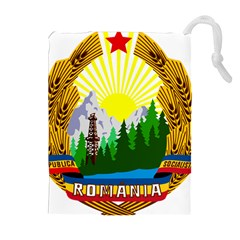 National Emblem Of Romania, 1965 1989  Drawstring Pouches (extra Large) by abbeyz71