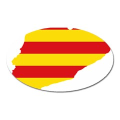 Flag Map Of Catalonia Oval Magnet by abbeyz71