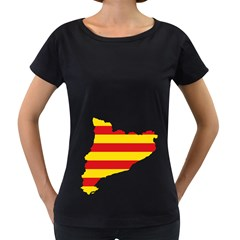 Flag Map Of Catalonia Women s Loose Fit T Shirt (black) by abbeyz71