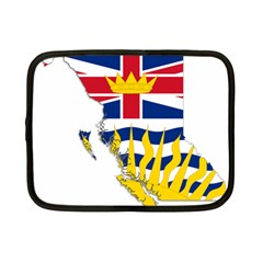 Flag Map Of British Columbia Netbook Case (small)  by abbeyz71