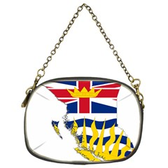 Flag Map of British Columbia Chain Purses (One Side)  by abbeyz71
