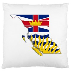 Flag Map Of British Columbia Large Cushion Case (two Sides) by abbeyz71