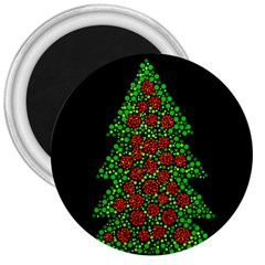 Sparkling Christmas Tree 3  Magnets by Valentinaart