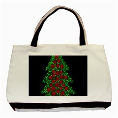 Sparkling Christmas Tree Basic Tote Bag by Valentinaart
