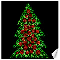 Sparkling Christmas Tree Canvas 16  X 16   by Valentinaart