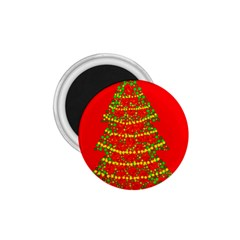 Sparkling Christmas Tree   Red 1 75  Magnets by Valentinaart